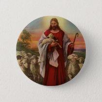 Vintage Religion, Christ the Good Shepherd Flock Button