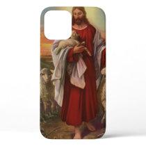 Vintage Religion, Christ the Good Shepherd Flock iPhone 12 Case