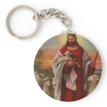 Vintage Religion, Christ the Good Shepherd Flock Keychain