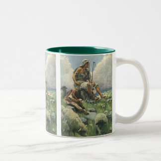 Vintage Religion, David the Shepherd by Copping Two-Tone Coffee Mug