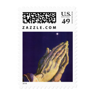 Vintage Religion, Hands Praying Towards Heaven Postage