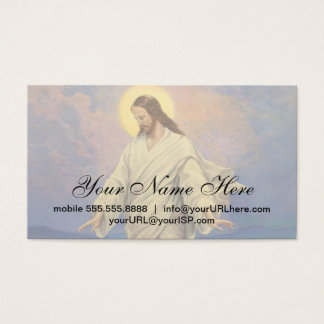 Vintage Religion, Jesus Christ is Walking on Water Business Card