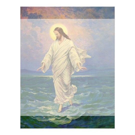 Vintage Religion, Jesus Christ is Walking on Water Letterhead