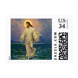 Vintage Religion, Jesus Christ is Walking on Water Postage