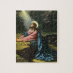 Vintage Religion, Jesus Christ Praying, Gethsemane Jigsaw Puzzle