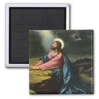 Vintage Religion Jesus Christ Praying Gethsemane Fridge Magnets