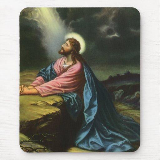 Vintage Religion, Jesus Christ Praying, Gethsemane Mouse Pads