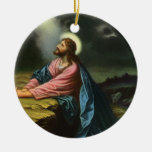 Vintage Religion, Jesus Christ Praying, Gethsemane Christmas Tree Ornament