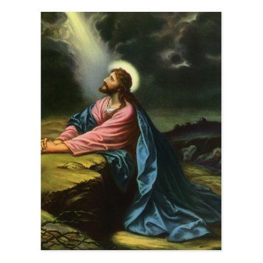 Vintage Religion, Jesus Christ Praying, Gethsemane Post Cards