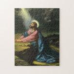 Vintage Religion, Jesus Christ Praying, Gethsemane Jigsaw Puzzles