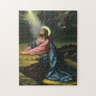 Vintage Religion, Jesus Christ Praying, Gethsemane Jigsaw Puzzles