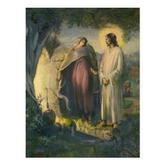 Vintage Religion, Jesus Christ Risen by Tomb Postcard