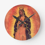 Vintage Religion, Lady of Guadalupe, Virgin Mary Round Clock