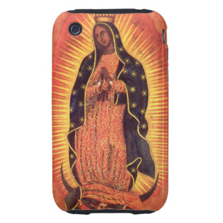 Vintage Religion, Lady of Guadalupe, Virgin Mary Tough iPhone 3 Cover