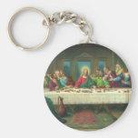 Vintage Religion, Last Supper with Jesus Christ Basic Round Button Keychain