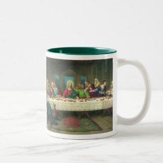 Vintage Religion, Last Supper with Jesus Christ Two-Tone Coffee Mug
