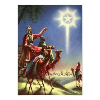 Vintage Religion, Magi and the Star of Bethlehem 5x7 Paper Invitation Card