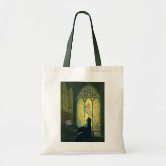 Vintage Religion, Nun Playing Music in Church Tote Bag