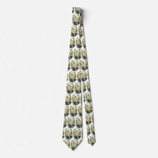Vintage Religion, Purple Pansy Flower Easter Angel Neck Tie