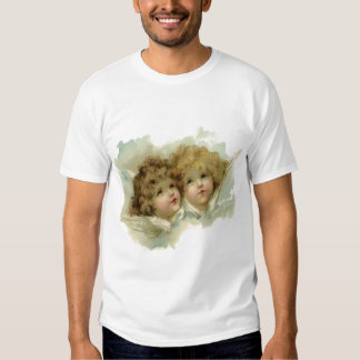 Vintage Religion, Victorian Angels in Clouds T-shirt