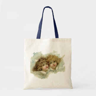 Vintage Religion, Victorian Angels in the Clouds Tote Bag