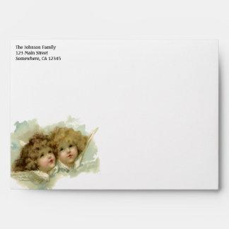 Vintage Religion Victorian Christmas Angels Envelopes