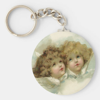 Vintage Religion, Victorian Christmas Angels Keychain
