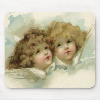 Vintage Religion, Victorian Christmas Angels Mouse Pad