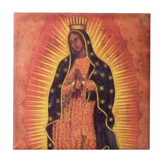 Vintage Religion, Virgin Mary, Lady of Guadalupe Ceramic Tile