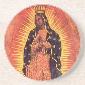 Vintage Religion, Virgin Mary, Lady of Guadalupe Drink Coaster