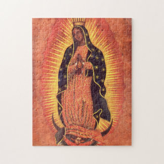 Vintage Religion, Virgin Mary, Lady of Guadalupe Jigsaw Puzzle