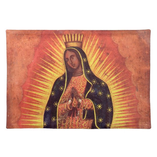 Vintage Religion, Virgin Mary, Lady of Guadalupe Placemat