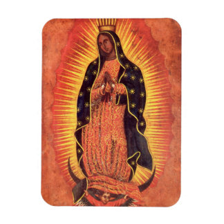 Vintage Religion, Virgin Mary, Lady of Guadalupe Rectangular Photo Magnet