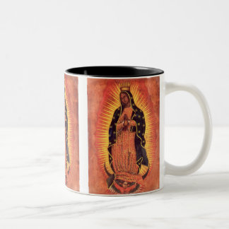 Vintage Religion, Virgin Mary, Lady of Guadalupe Two-Tone Coffee Mug
