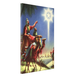 Vintage Religion, Wise Men with Star of Bethlehem Canvas Print