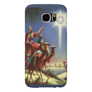 Vintage Religion, Wise Men with Star of Bethlehem Samsung Galaxy S6 Case