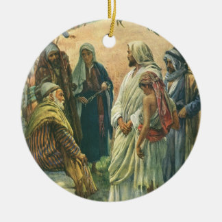 Vintage Religion, Working on Sabbath by Copping Ceramic Ornament
