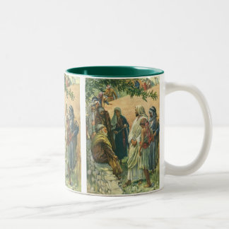 Vintage Religion, Working on Sabbath by Copping Two-Tone Coffee Mug