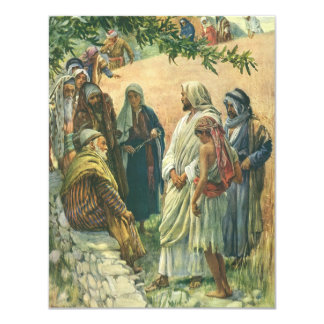 Vintage Religion, Working on the Sabbath, Copping 4.25x5.5 Paper Invitation Card