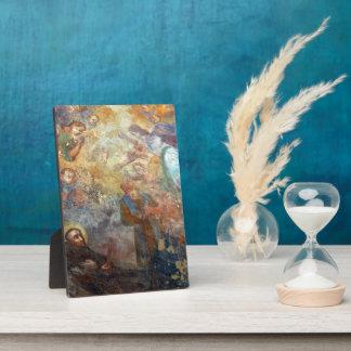 Vintage Religious Art Print 5 x 7 w/Easel Plaque