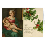 Vintage Religious Christmas Blessings Card