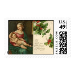 Vintage Religious Christmas Blessings Postage
