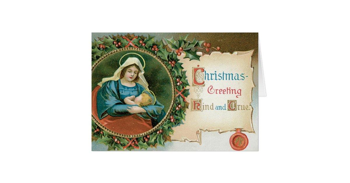 Vintage Religious Christmas Card Zazzle