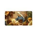 Vintage Religious Christmas, Nativity, Baby Jesus Custom Address Label