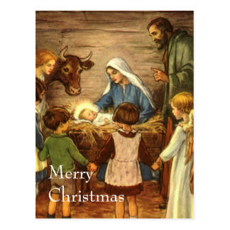 Vintage Religious Christmas Nativity Baby Jesus Postcards