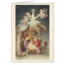 Vintage Religious Christmas Nativity Greeting Card