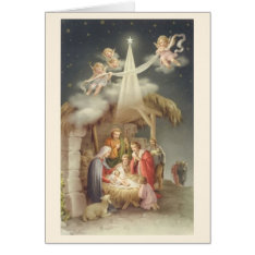 Vintage Religious Christmas Nativity Greeting Card at Zazzle