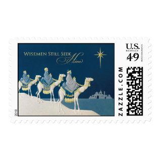 Vintage Religious Christmas Postage at Zazzle