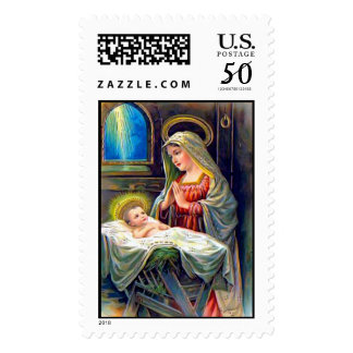 Vintage Religious Christmas Stamps