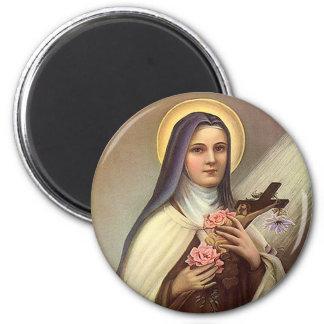 Vintage Religious Easter, Nun Cross Christ Roses Fridge Magnets